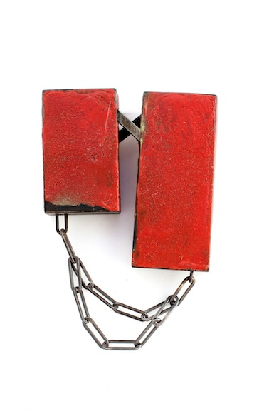 Cole - Double Box Brooch with Chain