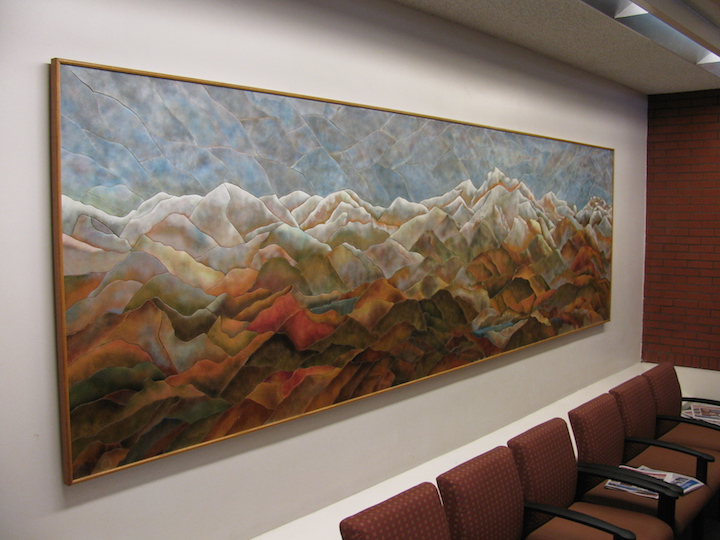 large mural at Sutter Health that has since been moved