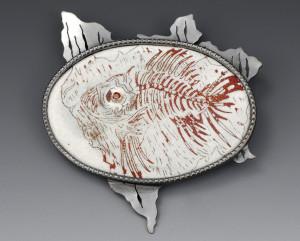 Hall- Fossil Fish Brooch